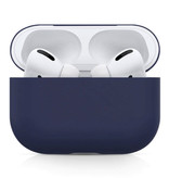 SIFREE Flexibel Hoesje voor AirPods Pro - Silicone Skin AirPod Case Cover Soepel - Donkerblauw