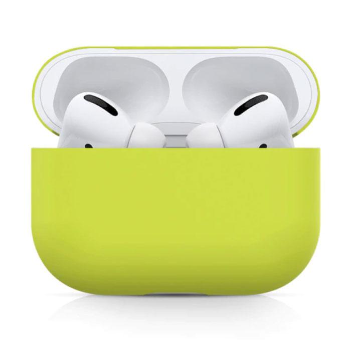Étui flexible pour AirPods Pro - Housse de protection en peau de silicone pour AirPod Flexible - Jaune