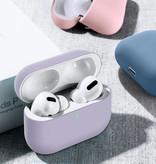 SIFREE Flexibel Hoesje voor AirPods Pro - Silicone Skin AirPod Case Cover Soepel - Grijs