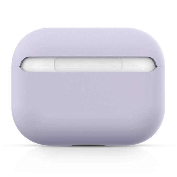 SIFREE Flexibel Hoesje voor AirPods Pro - Silicone Skin AirPod Case Cover Soepel - Oranje