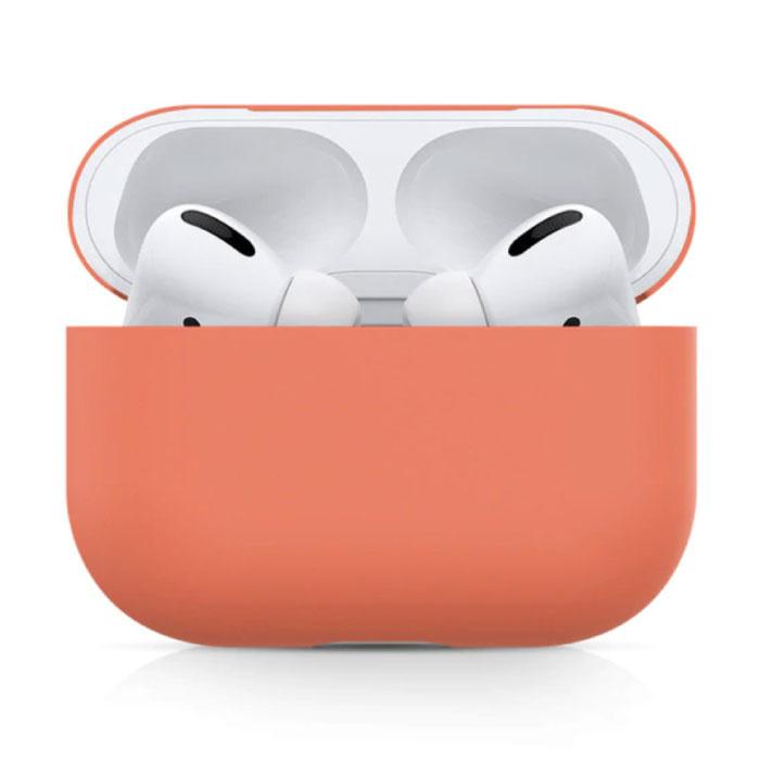 Étui flexible pour AirPods Pro - Housse de protection en peau de silicone AirPod lisse - Orange
