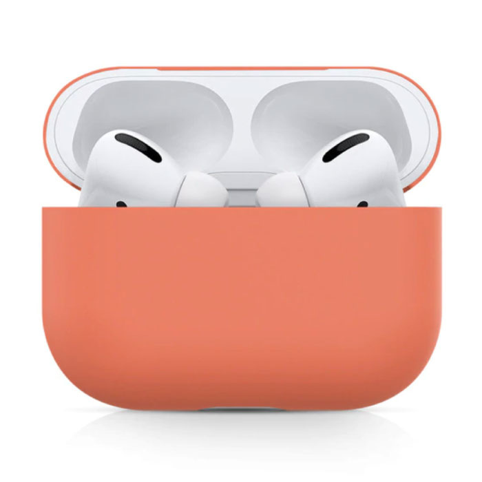 Flexibel Hoesje voor AirPods Pro - Silicone Skin AirPod Case Cover Soepel - Oranje