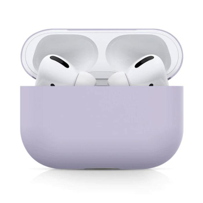 Étui flexible pour AirPods Pro - Housse de protection pour AirPod en peau de silicone - Violet