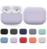 SIFREE Flexibel Hoesje voor AirPods Pro - Silicone Skin AirPod Case Cover Soepel - Rood