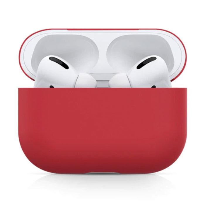 Étui flexible pour AirPods Pro - Housse de protection en peau de silicone AirPod Flexible - Rouge