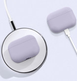 SIFREE Flexibel Hoesje voor AirPods Pro - Silicone Skin AirPod Case Cover Soepel - Zwart