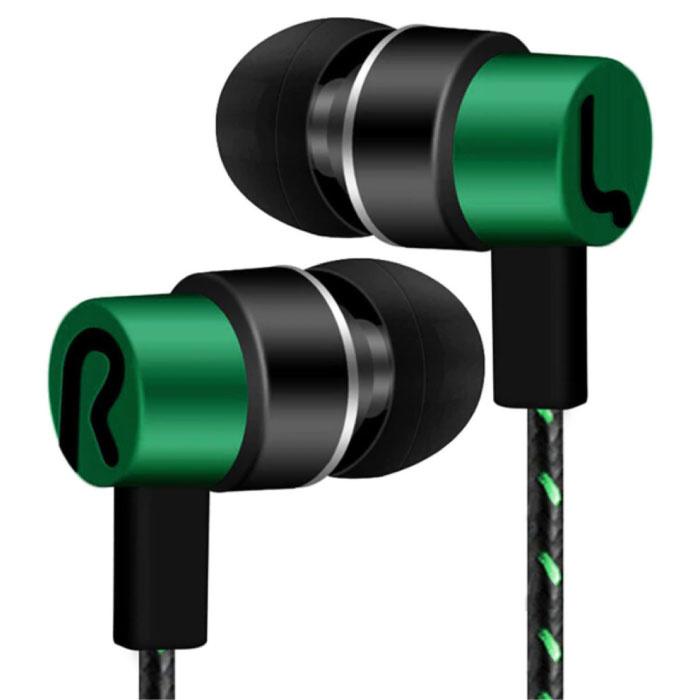3.5mm AUX Earbuds Earpieces Wired Earphones Earphone Green