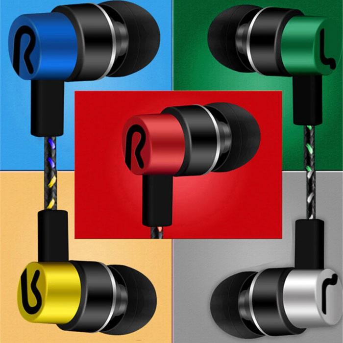 CARPRIE 3.5mm AUX Oordopjes Oortjes Wired Earphones Oortelefoon Zilver