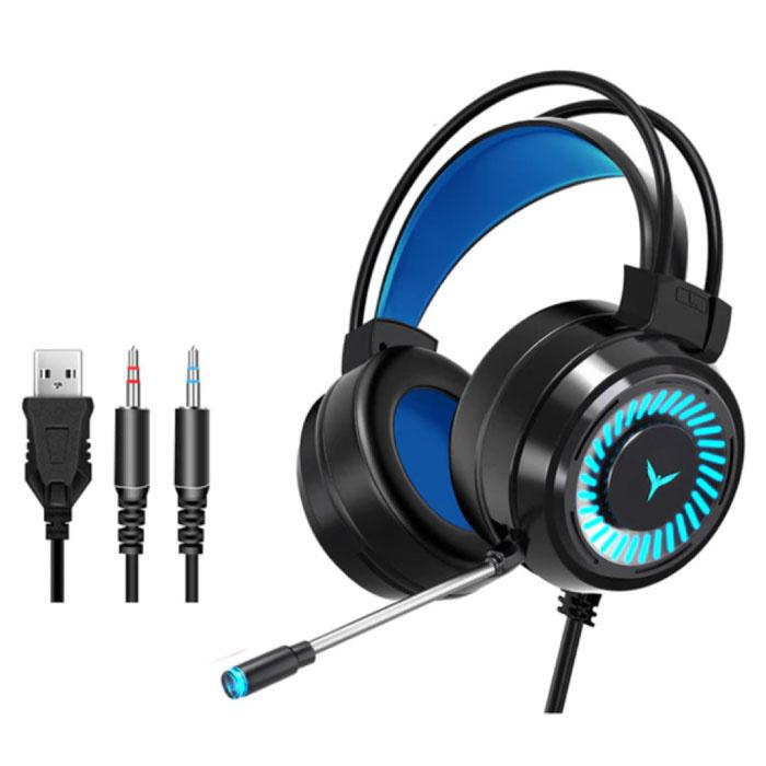 Casque de jeu filaire pour PC / Xbox / PS4 / PS5 - Casque avec microphone noir