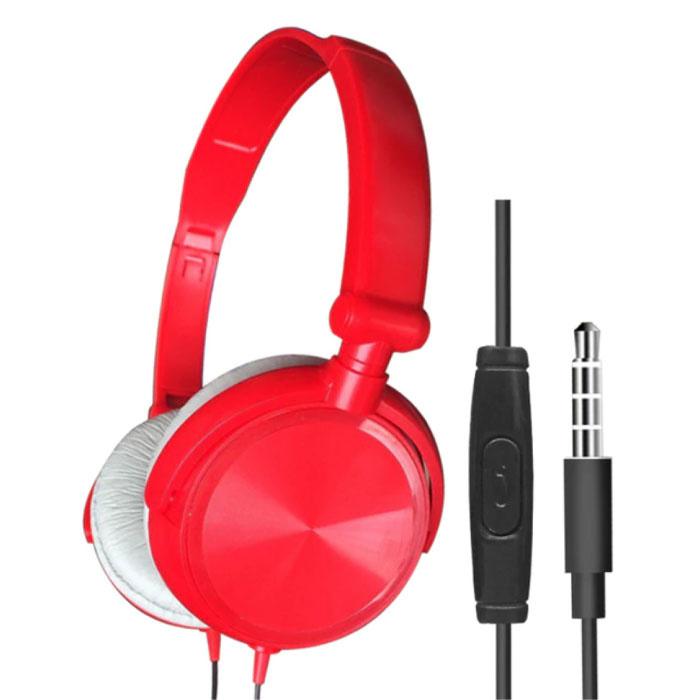 Casque de jeu HiFi pour PC / Xbox / PS4 / PS5 - Casque filaire rouge