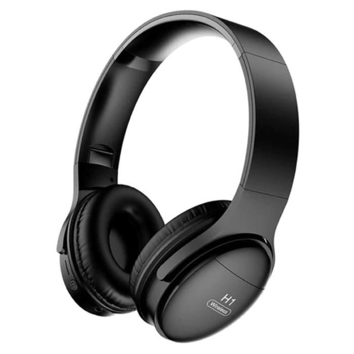 H1 Bluetooth 5.0 Koptelefoon Draadloze Headphones HiFi Stereo Zwart