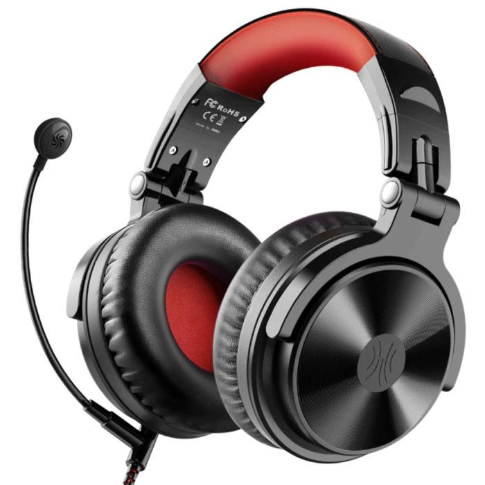 Draadloze Gaming Koptelefoon met Boom Mic - Voor PC/Xbox/PS4/PS5 - Headset Headphones met Microfoon Zwart
