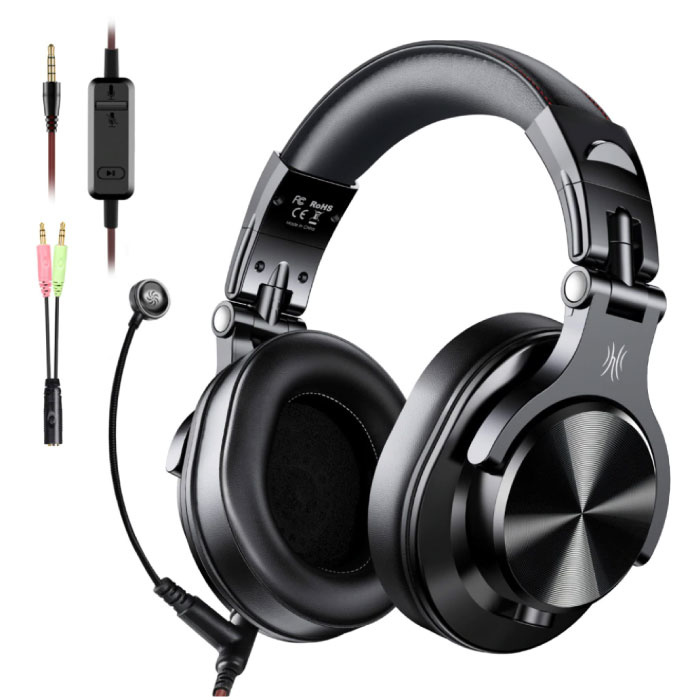 A71 DJ Studio Gaming Headphones with 6.35mm and 3.5mm AUX Connection - Headset with Microphone Headphones