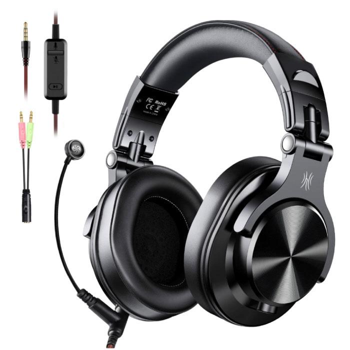A71 DJ Studio Gaming Koptelefoon met 6.35mm en 3.5mm AUX Aansluiting - Headset met Microfoon Headphones