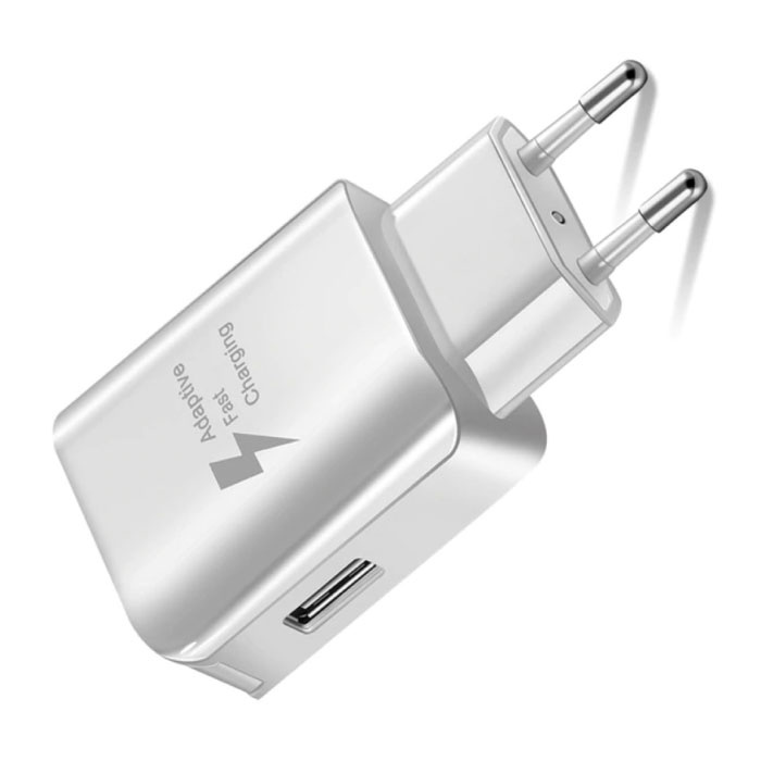 Fast Charge USB Stekkerlader - 3A Quick Charge 3.0 Muur Oplader Wallcharger AC Thuislader Adapter Wit