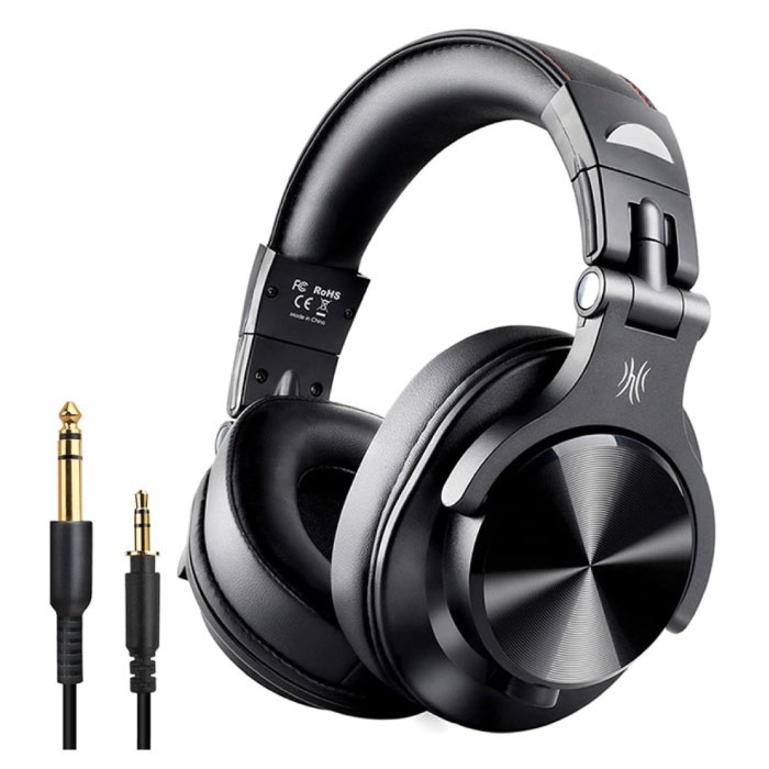 Fusion A70 Studio Bluetooth Headphones with 6.35mm and 3.5mm AUX Connection - Headset with Microphone DJ Headphones