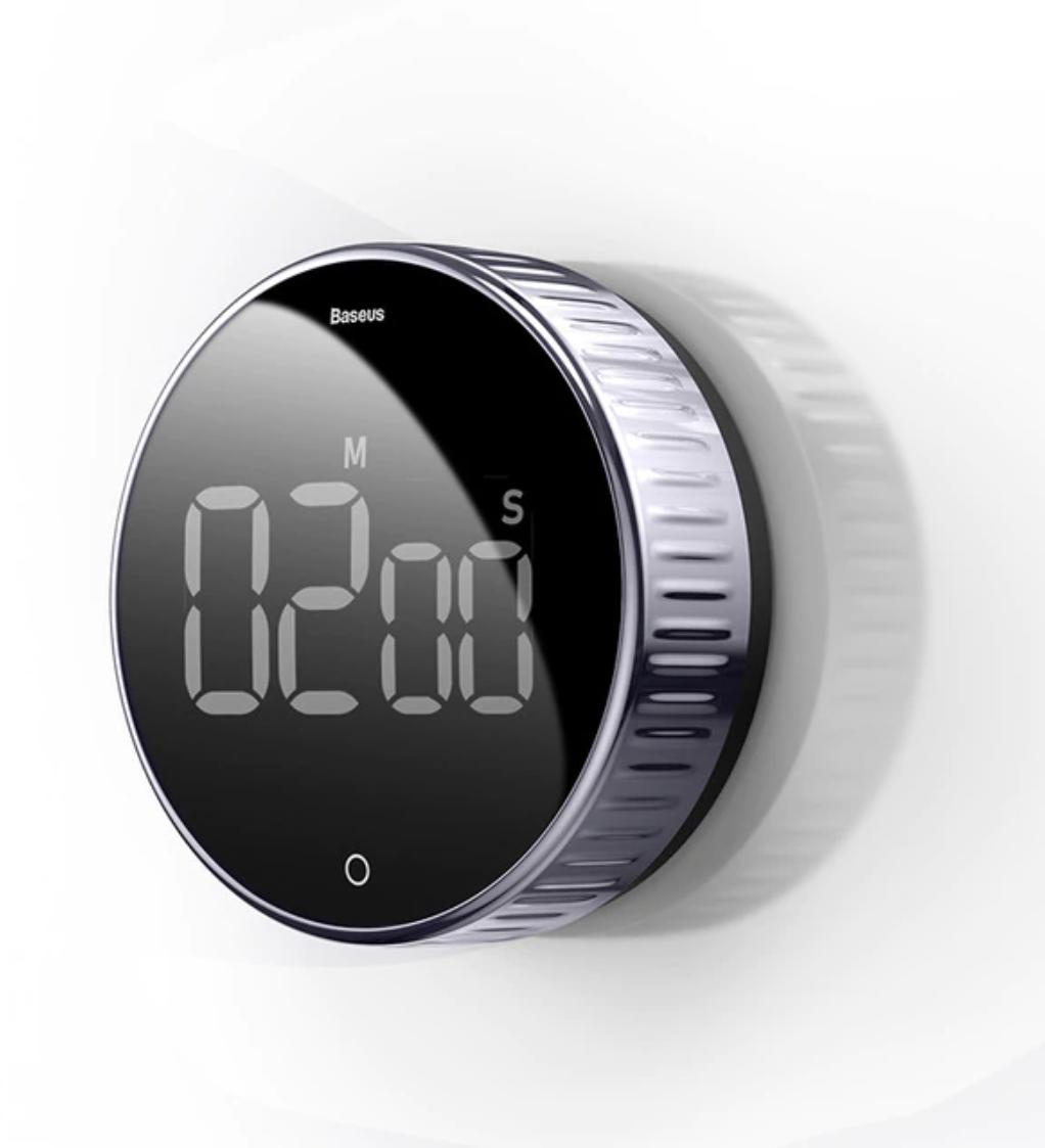 Minuterie magnétique - Réveil à compte à rebours Alarme Minuterie de cuisine numérique Horloge