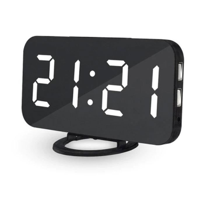 Multifunktionale digitale LED-Uhr - Wecker Spiegel Alarm Snooze Helligkeitseinstellung