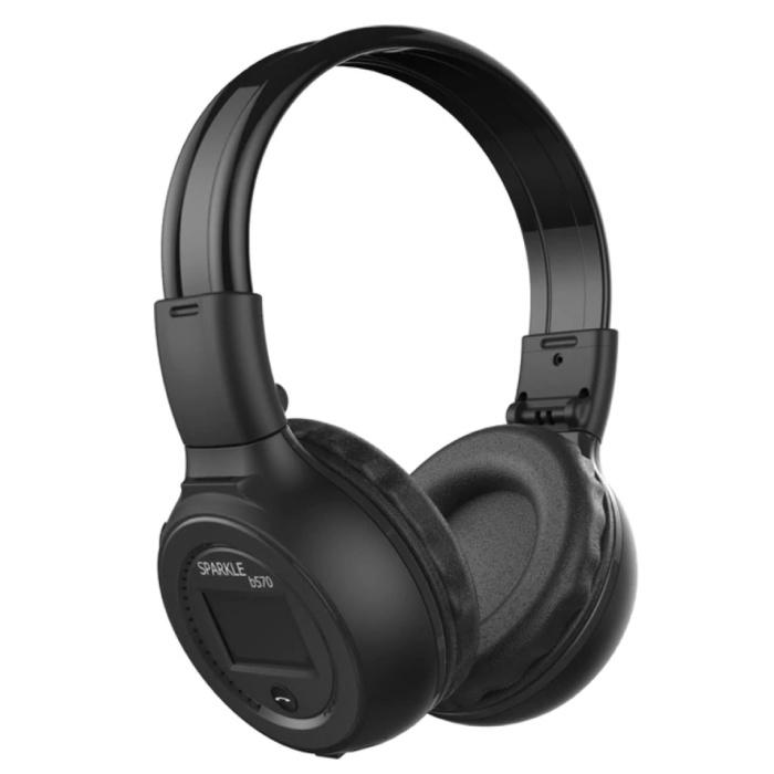 Casque sans fil B570 avec écran LED et radio FM - Casque sans fil Bluetooth 5.0 Studio stéréo noir