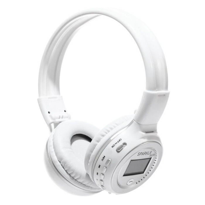 B570 Draadloze Koptelefoon met LED Display en FM Radio - Bluetooth 5.0 Wireless Headphones Stereo Studio Wit