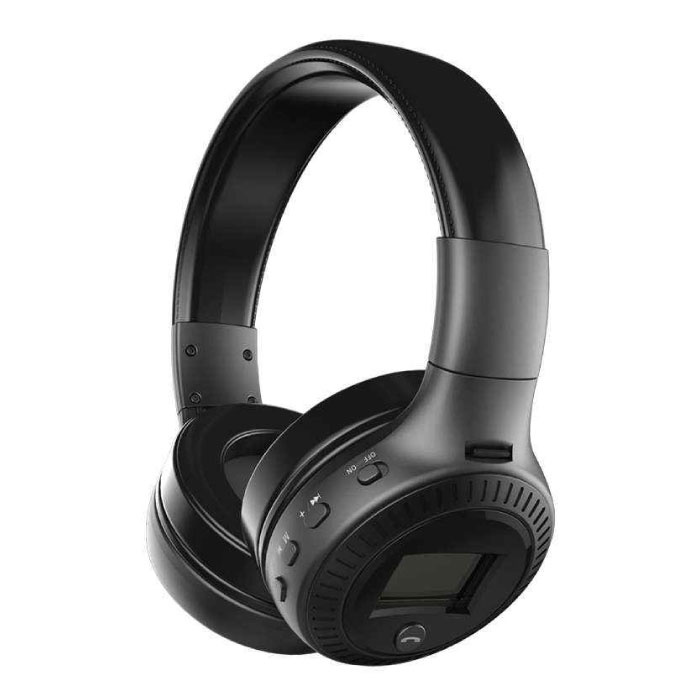 B19 Draadloze Koptelefoon met LED Display en FM Radio - Bluetooth 5.0 Wireless Headphones Stereo Studio Zwart