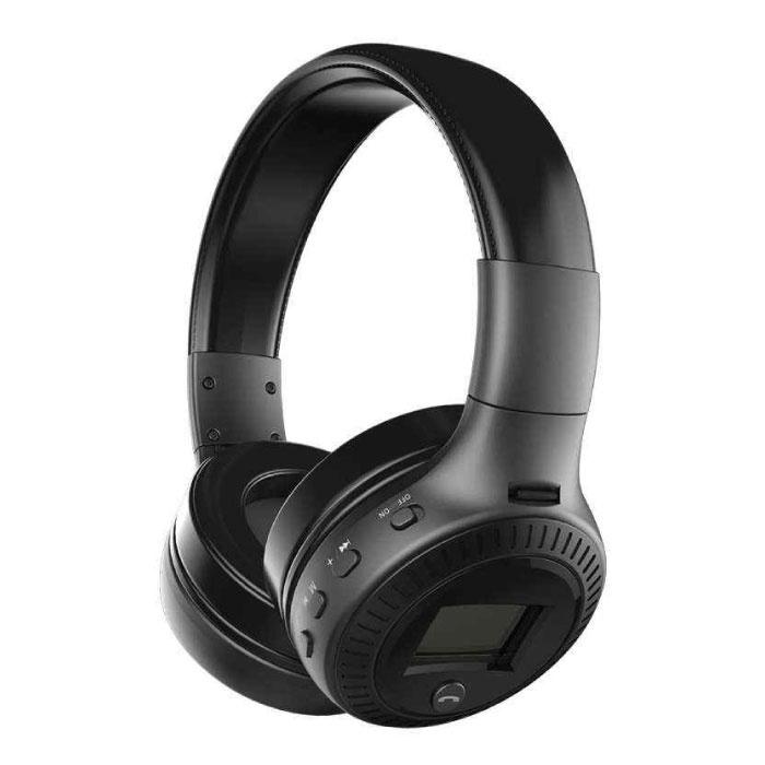 Casque sans fil B19 avec écran LED et radio FM - Casque sans fil Bluetooth 5.0 Studio stéréo noir
