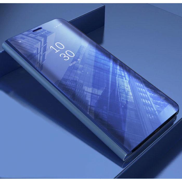 Etui Flip Housse Cuir pour Huawei Y7 2019 Smart Mirror Violet