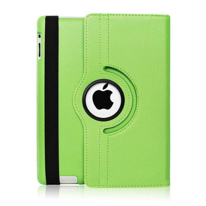 """Leren Vouwbare Cover voor iPad 2019 (10.2"""") - Multifunctioneel Hoesje Case Groen"""