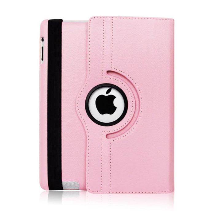 """Leren Vouwbare Cover voor iPad 2020 (10.2"""") - Multifunctioneel Hoesje Case Roze"""