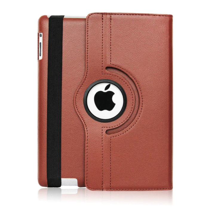 """Leather Foldable Cover for iPad 2017 (9.7 """") - Multifunctional Case Case Brown"""