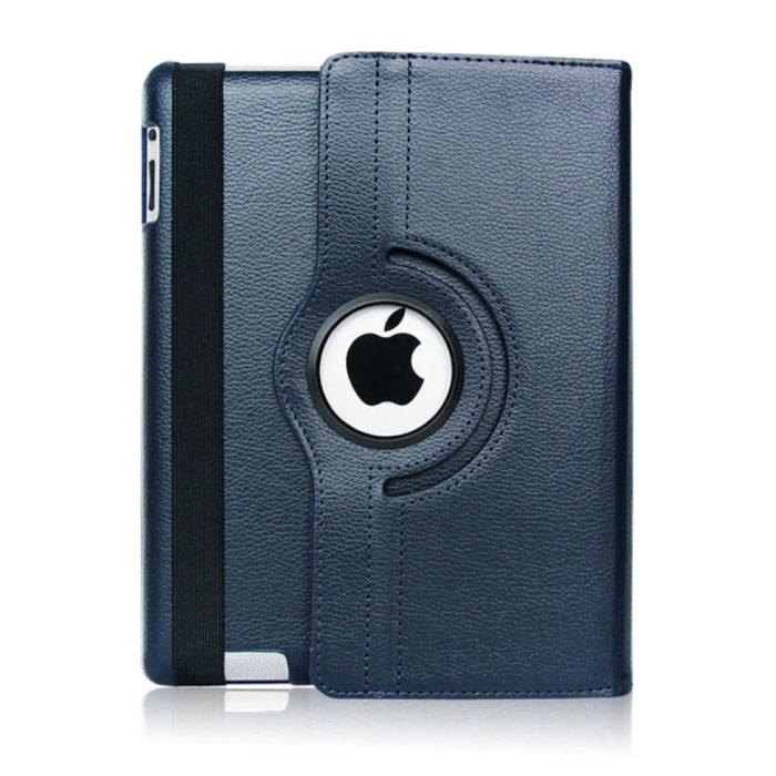 Leren Vouwbare Cover voor iPad Air 4 - Multifunctioneel Hoesje Case Blauw