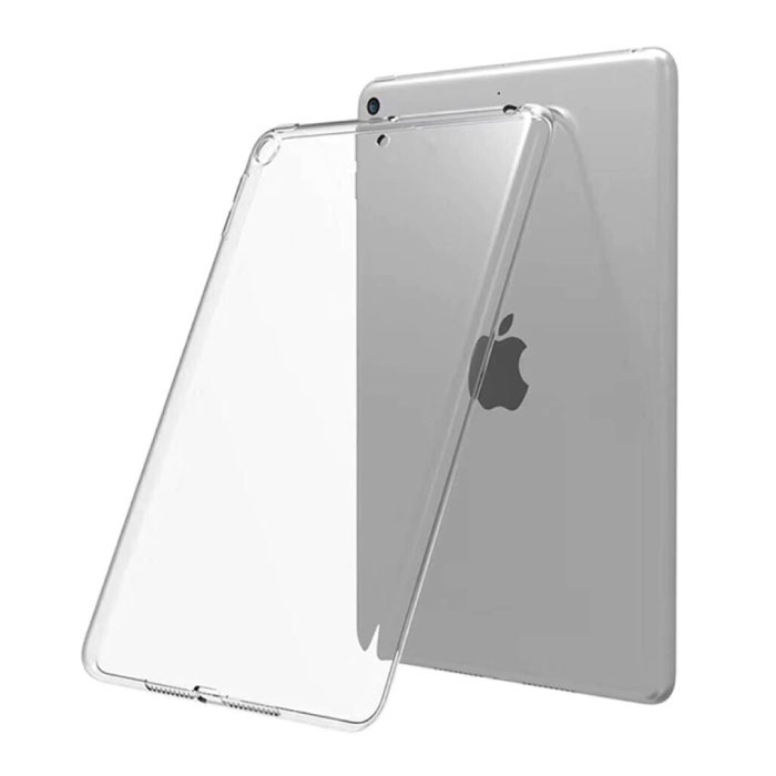 "Transparant Hoesje voor iPad 2019 (10.2"") - Clear Case Cover Silicone TPU"