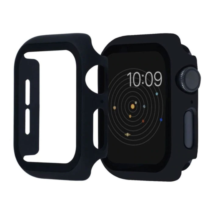 Full Cover voor iWatch Series 38mm - Hoesje en Screen Protector - Tempered Glass Hard Case TPU