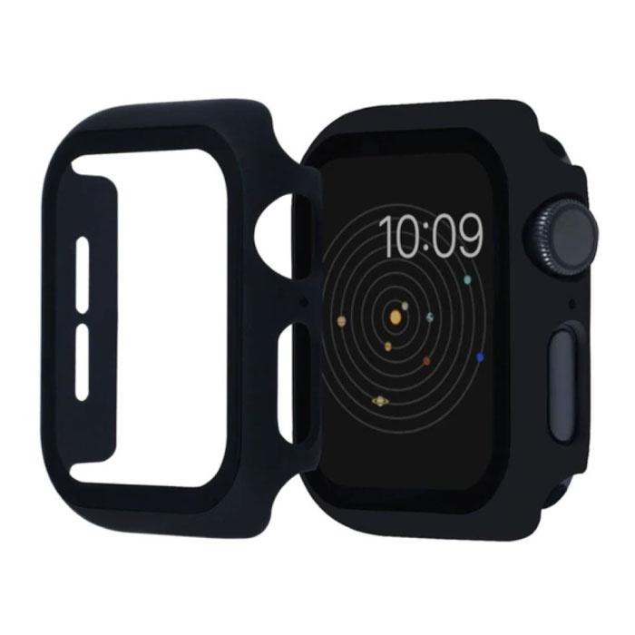 Full Cover for iWatch Series 44mm - Coque et protecteur d'écran - Coque rigide en verre trempé TPU