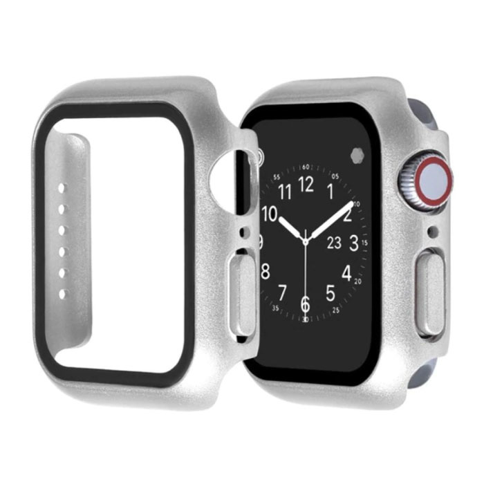 Full Cover for iWatch Series 38mm - Case and Screen Protector - Tempered Glass Hard Case TPU
