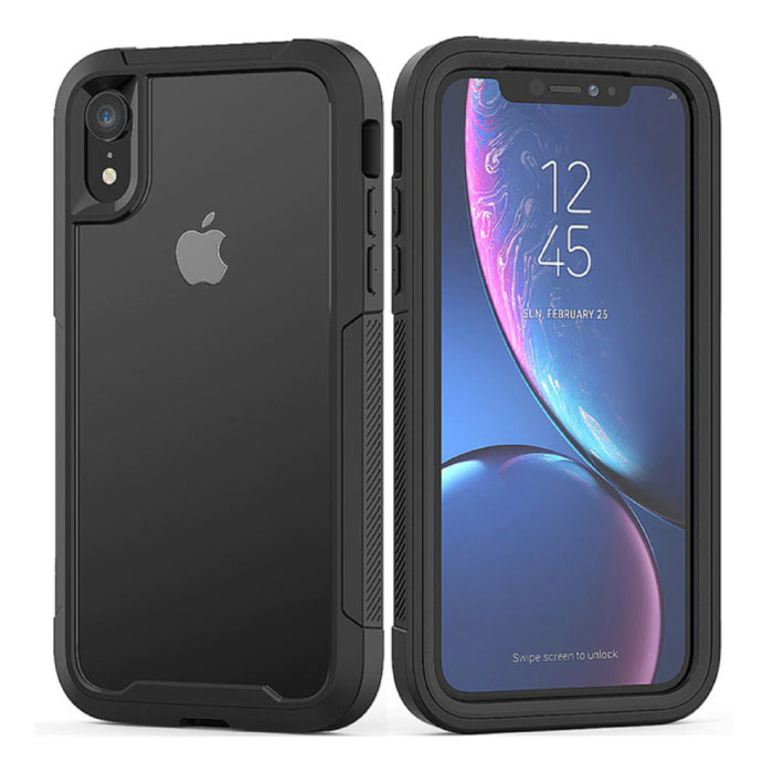 Bumper Case with Frame pour iPhone XS Max - Housse Anti-Shock TPU Noir