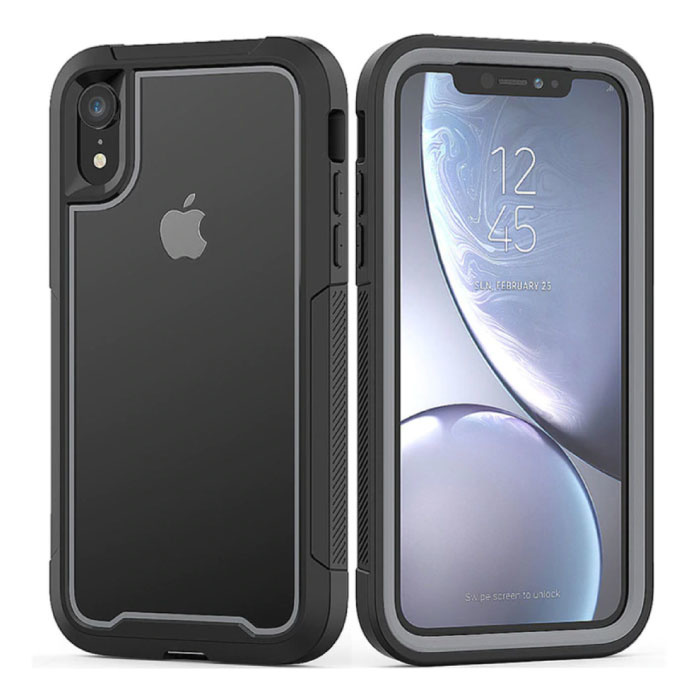 Bumper Case with Frame for iPhone XS Max - Anti-Shock Case Cover TPU Gray