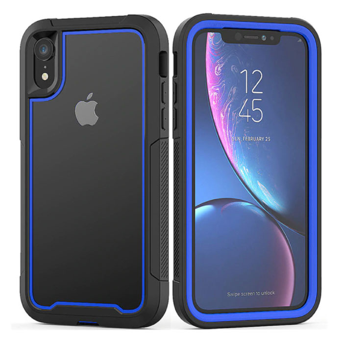 Bumper Case with Frame for iPhone 8 - Anti-Shock Case Cover TPU Blue