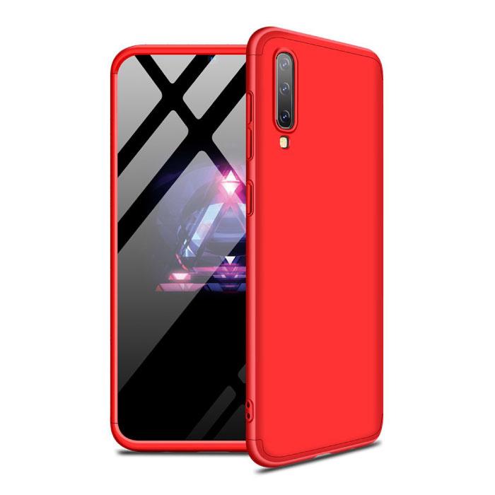 Xiaomi Redmi Note 5A Volle Abdeckung - 360 ° Gehäusetasche + Displayschutzfolie aus gehärtetem Glas Rot