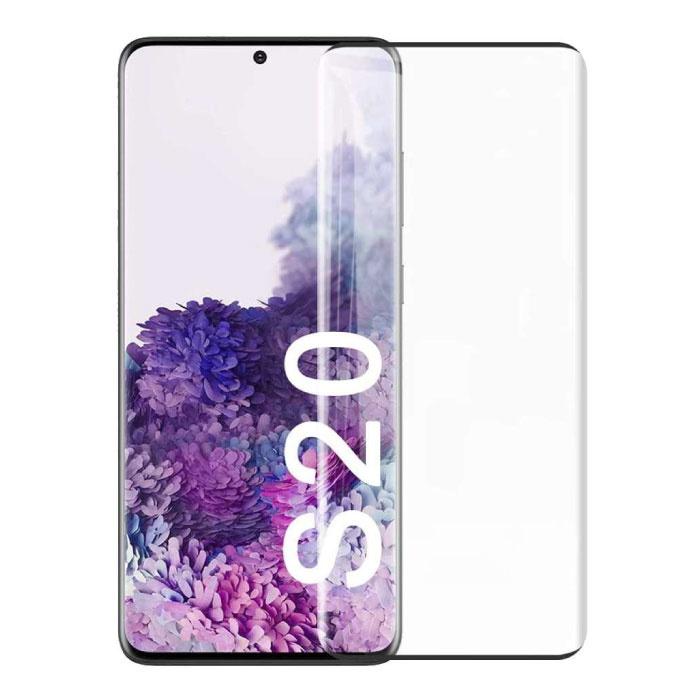 Samsung Galaxy S20 Plus Protecteur d'écran à couverture complète 9D Film de verre trempé Lunettes en verre trempé
