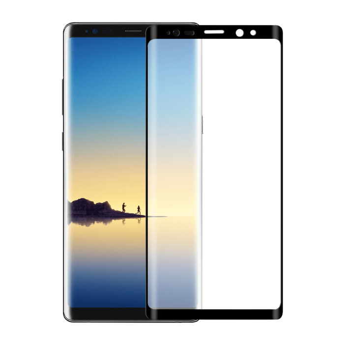 Samsung Galaxy Note 8 Protecteur d'écran à couverture complète 9D Film de verre trempé Lunettes en verre trempé