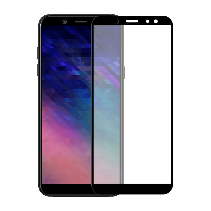 Samsung Galaxy A6 Plus 2018 Protecteur d'écran à couverture complète 9D Film de verre trempé Lunettes en verre trempé