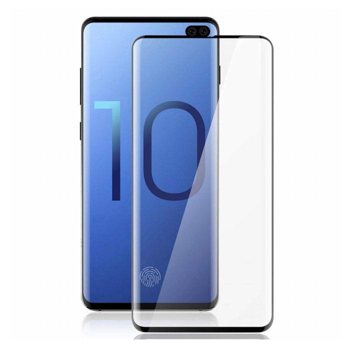 Pack de 2 Samsung Galaxy S10 Plus Protecteur d'écran Full Cover Film de verre trempé 9D Lunettes en verre trempé