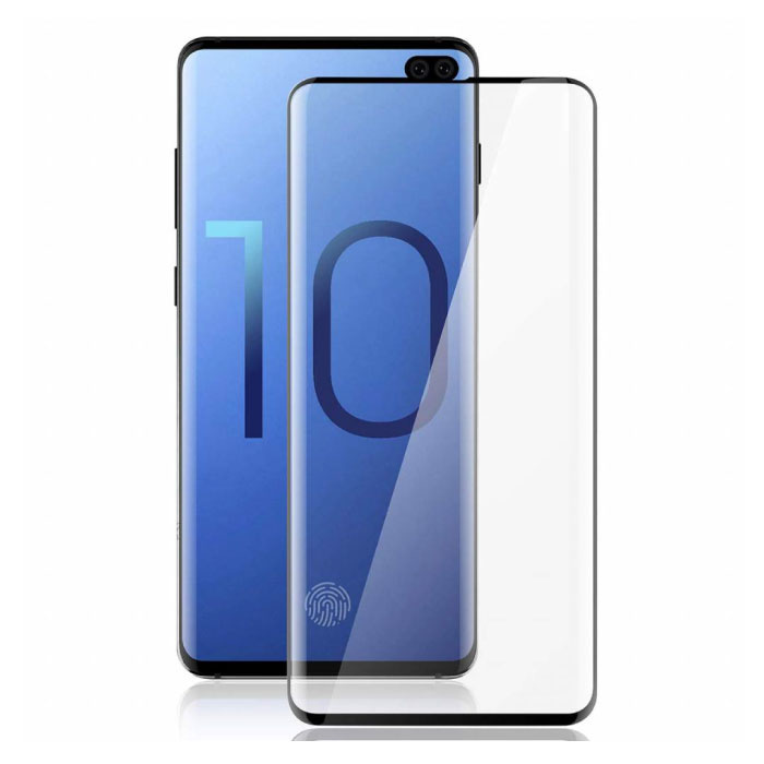 3-Pack Samsung Galaxy S10 Plus Full Cover Screen Protector 9D Tempered Glass Film Gehard Glas Glazen