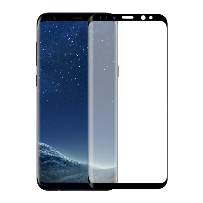 Stuff Certified® 3-Pack Samsung Galaxy S8 Plus Full Cover Screen Protector 9D Tempered Glass Film Gehard Glas Glazen