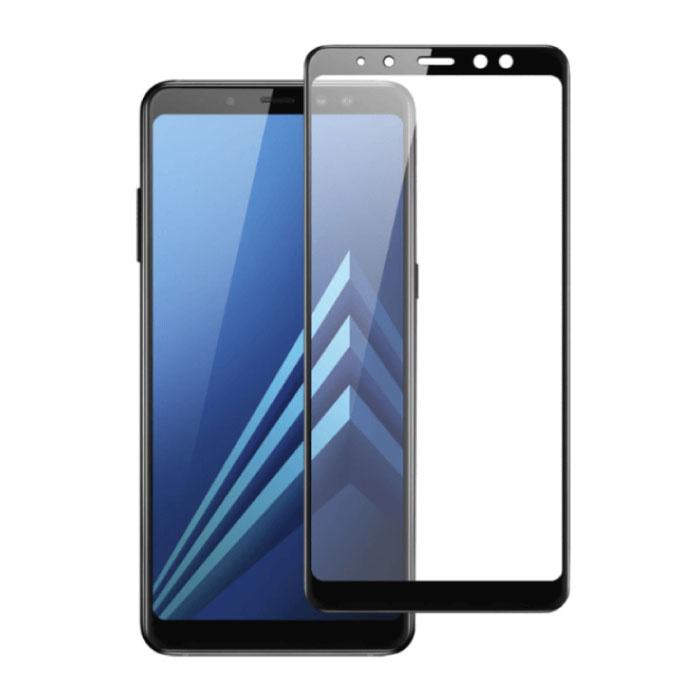 Pack de 5 Samsung Galaxy A8 Plus 2018 Protecteur d'écran à couverture complète 9D Film de verre trempé Lunettes en verre trempé