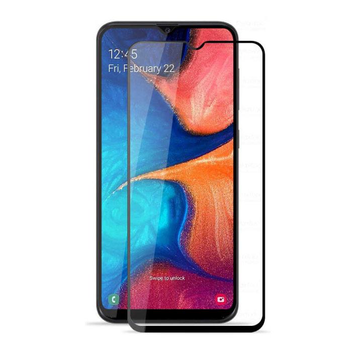 Samsung Galaxy A20 Full Cover Displayschutzfolie 9D gehärtete Glasfolie gehärtete Glasbrille