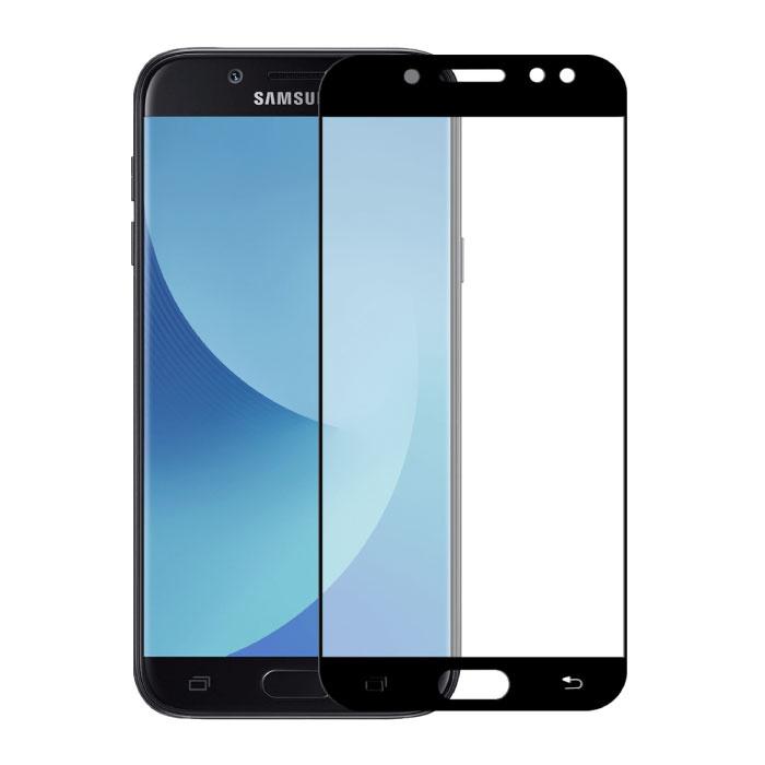 Pack de 2 Samsung Galaxy J7 2017 Protecteur d'écran à couverture complète 9D Film de verre trempé Lunettes en verre trempé