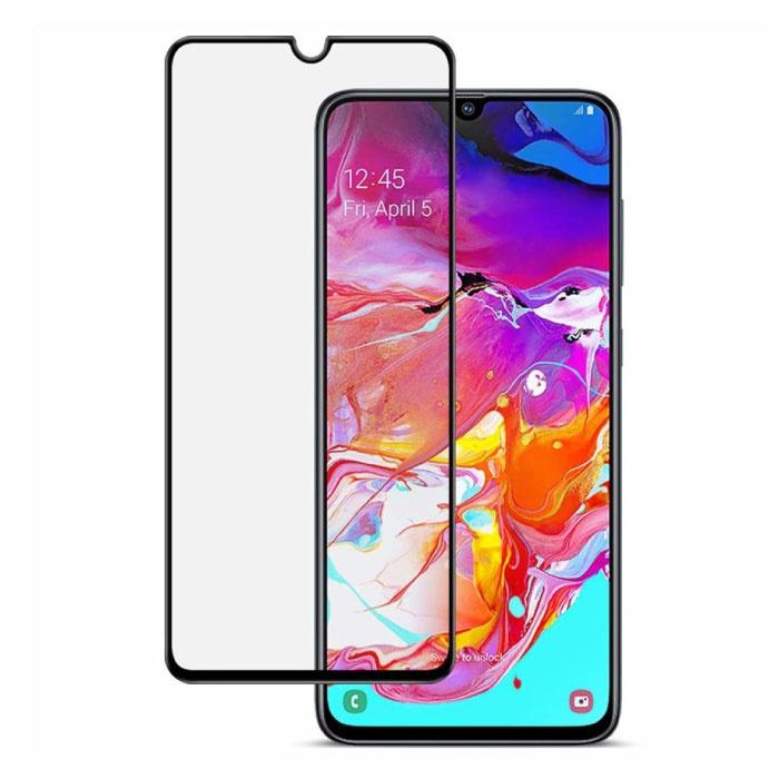 2er-Pack Samsung Galaxy A70 Vollschutz-Displayschutzfolie 9D-Glasscheibe aus gehärtetem Glas