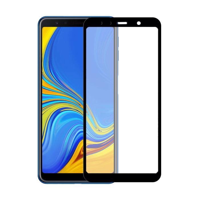 Pack de 2 Samsung Galaxy A7 2017 Protecteur d'écran à couverture complète 9D Film de verre trempé Lunettes en verre trempé